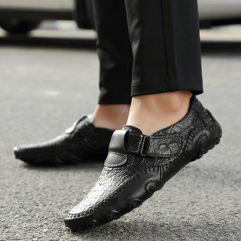 Embossed Stitching Slip On Casual Shoes - 43 43
