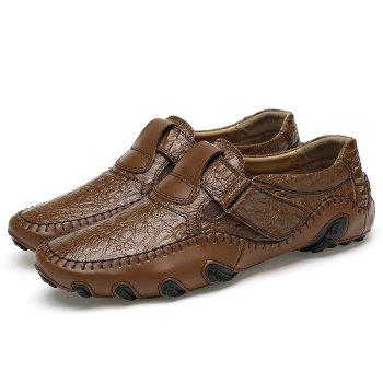 Embossed Stitching Slip On Casual Shoes - 38 38