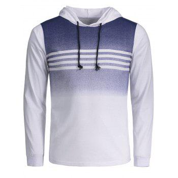 Stripe Ombre Pullover Hoodie