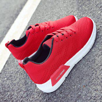 Breathable Hollow Out Mesh Sneakers - RED 41