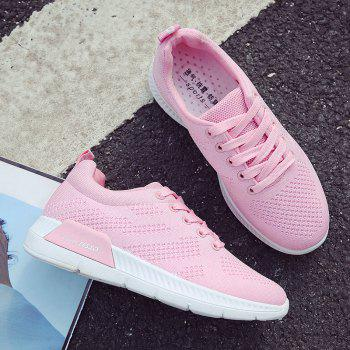 Breathable Hollow Out Mesh Sneakers - PINK 41