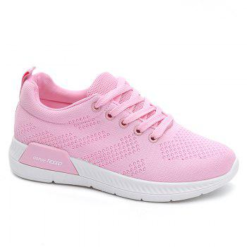 Breathable Hollow Out Mesh Sneakers - PINK 37