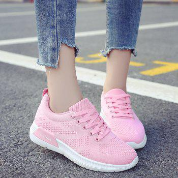 Breathable Hollow Out Mesh Sneakers - PINK 38