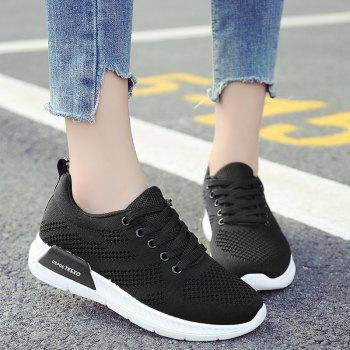 Breathable Hollow Out Mesh Sneakers - BLACK 41