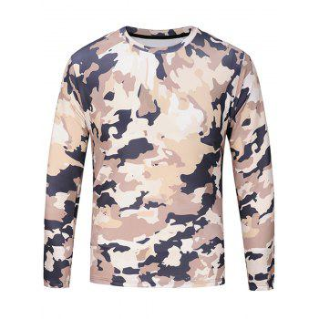 Long Sleeve Camouflage Pattern T-shirt