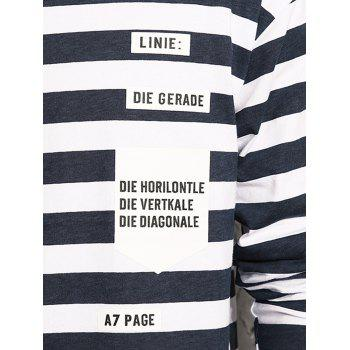Graphic Print Stripe Long Sleeve T-shirt - L L