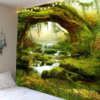 Wall Hanging Forest Streams Print Tapestry