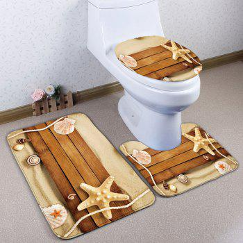 Plank Bathroom Decor 3Pcs/Set Bath Toilet Mats