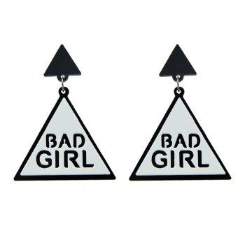 Bad Girl Triangle Cool Drop Earrings