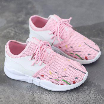 Baskets en mesh Graffitti bas-haut - Rose Clair 39