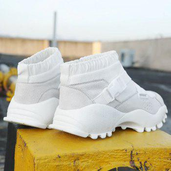Buckle Straps Mesh Color Block Sneakers - 37 37