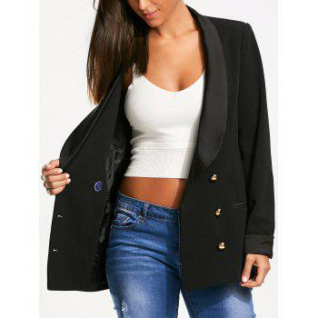 Back Slit Lapel Blazer with Double Breasted