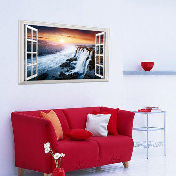 Window Sunset Falls 3D Wall Art Sticker - COLORMIX COLORMIX