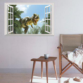 Window Dinosaur 3D Wall Art Sticker - 48.5*72CM 48.5*72CM