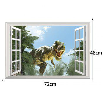 Window Dinosaur 3D Wall Art Sticker - COLORMIX COLORMIX