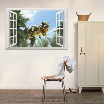 Window Dinosaur 3D Wall Art Sticker - COLORMIX 48.5*72CM