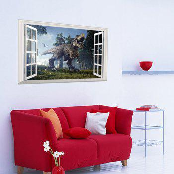 Window Forest Dinosaur 3D Wall Art Sticker - COLORMIX COLORMIX