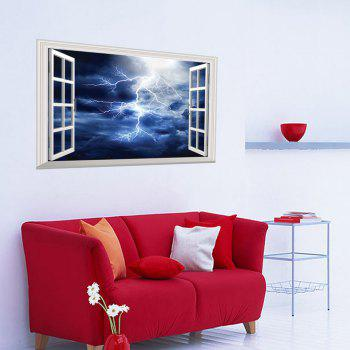 Window Lightning 3D Wall Art Sticker - 48.5*72CM 48.5*72CM