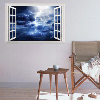 Window Lightning 3D Wall Art Sticker - DEEP BLUE 48.5*72CM