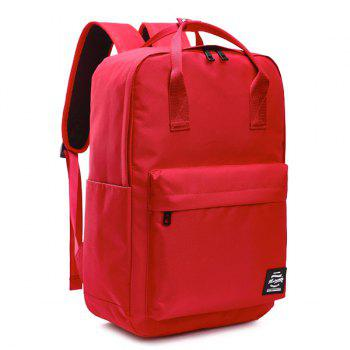 Top Handle Double Pocket Backpack - RED