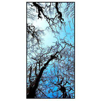 Sky and Branches Print Soft Polyester Bath Towel - SKY BLUE SKY BLUE
