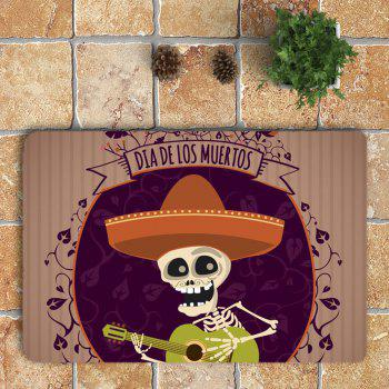 3Pcs guitare Skeleton imprimé de salle de bain Halloween Set - Coloré