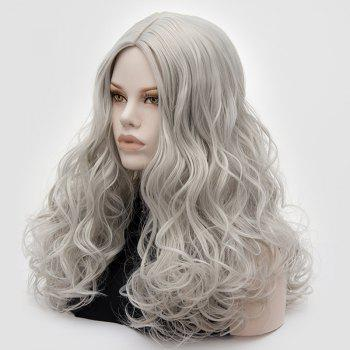 Longue partie médiane Fluffy Layered Wavy Cosplay Lolita Wig - Gel
