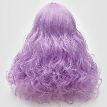 Longue partie médiane Fluffy Layered Wavy Cosplay Lolita Wig - Violet Clair