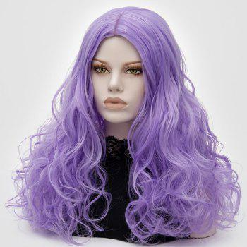 Longue partie médiane Fluffy Layered Wavy Cosplay Lolita Wig - Pourpre