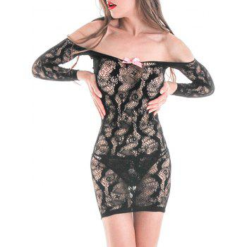 Off The Shoulder See-through Bodycon Dress
