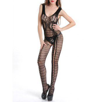 Crotchless See Through Lace Bodystocking