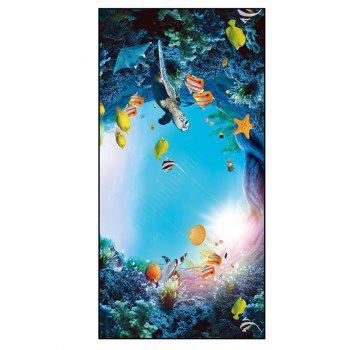 Sea World Printed Polyester Bath Towel
