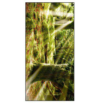 Natural Forest Printed Polyester Soft Bath Towel - YELLOW GREEN W15.5 INCH * L67 INCH