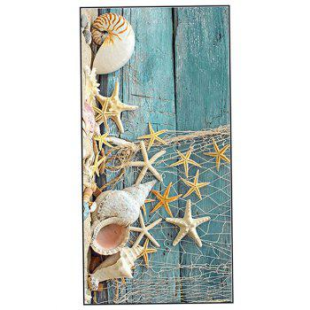 Wood Grain Starfish Printed Soft Bath Towel