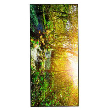 Forest Stream Print Practical Soft Bath Towel - GREEN GREEN