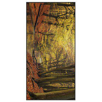 Autumn Forest Printed Polyester Bath Towel - ORANGE YELLOW W15.5 INCH * L67 INCH