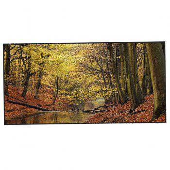 Autumn Forest Printed Polyester Bath Towel - ORANGE YELLOW ORANGE YELLOW