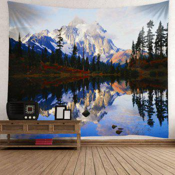 Lakeside Forest Mountains Waterproof Hanging Wall Tapestry - COLORFUL COLORFUL