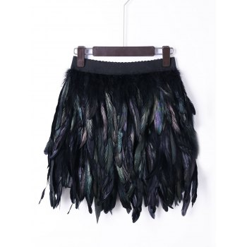 Halloween Elastic Waist Feather Skirt