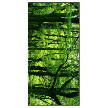 Forest Scenery Printed Soft Polyester Bath Towel - GREEN W15.5 INCH * L67 INCH