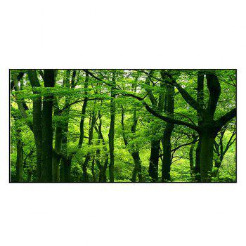 Forest Scenery Printed Soft Polyester Bath Towel - GREEN GREEN