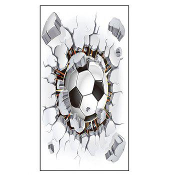 Polyester Football Print Sport Bath Towel - WHITE WHITE