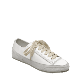 Suede Panel Satin Sneakers - WHITE 40