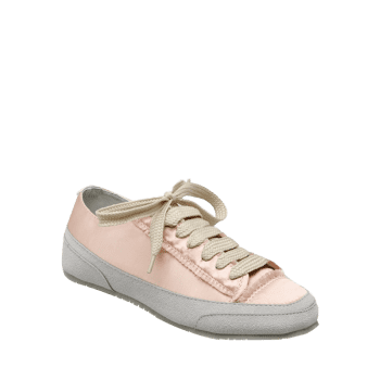 Suede Panel Satin Sneakers - 37 37