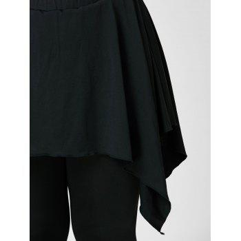 Plus Size Handerchief Skirted Pants - 4XL 4XL