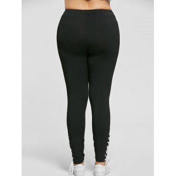 Plus Size Lace Up Skinny Pants - 2XL 2XL