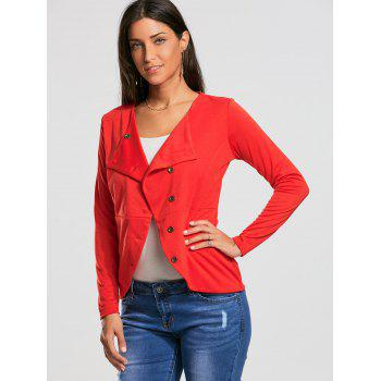 High Waist Button Up Jacket - S S
