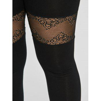 Plus Size Lace Insert Sport Leggings - 2XL 2XL