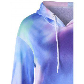 Tie Dye Kangaroo Pocket Graphic Hoodie - multicolorcolore L