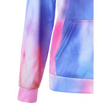 Tie Dye Kangaroo Pocket Graphic Hoodie - multicolorcolore 2XL
